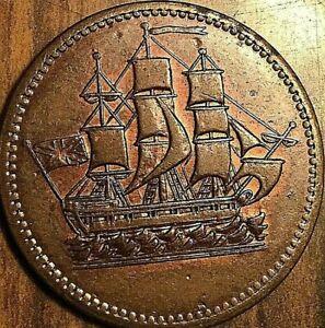 PEI-SHIPS-COLONIES-AND-COMMERCE-HALF-PENNY-TOKEN-Breton-997-SHC-2-Lees-6-2-B