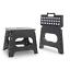 Large/&Small Foldable Folding Anti Slip Grip Plastic Step Stool Multi Purpose Use