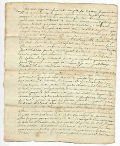 1769-LOUIS-XV-royal-notary-signed-manuscript-document-damaged-nice-stamp