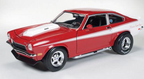 1-18 - AutoWorld-ERTL - 1971-Baldwin-Motion-CHEVROLET - Vega-rosso-PREZZO SPECIALE 1-18-au