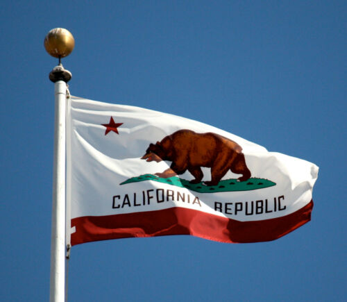 California State Flag Large Nylon USA Made Free Shipping 6x10 8X1  10X15 12X18FT