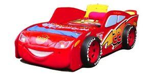 Details zu Autobett CARS rot mit Matratze Rennwagen Bett Auto mit LED  Licht, Kinderbett NEU
