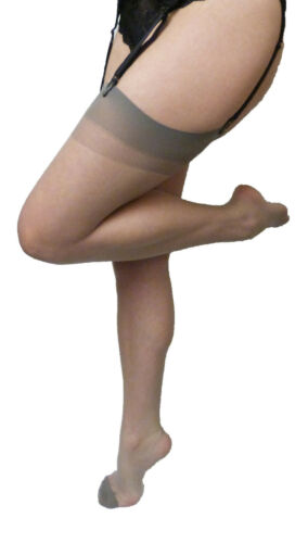 Dancing Girl One Size Super Fine 7 Denier Plain Knit Stockings 100/% Nylon