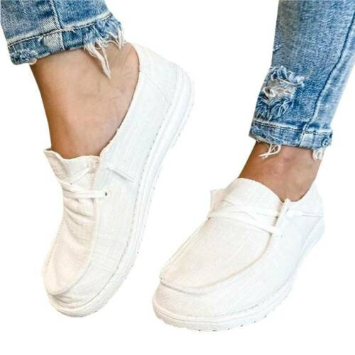 Details about  /Womens Pumps Slip On Flat Loafers Single Outdoor Party Summer Casual Boat Shoes