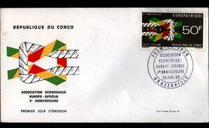 BRAZZAVILLE-REPUBLIQUE-du-CONGO-EUROPAFRIQUE-Enveloppe-1-JOUR