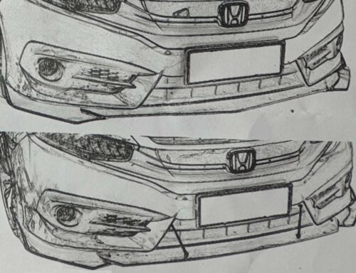 Carbon Paint Front alerón frontal astillas para Mercedes CLA Coupe parachoques LIP