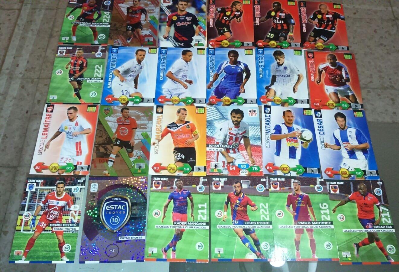 Lot Troyes cartes Adrenalyn ligue 1 Guingamp Nancy Ajaccio Troyes Lot Nice cards football 0ff2af