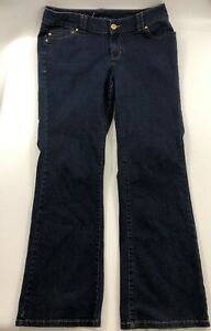 Lane-Bryant-Slim-Boot-Genius-Fit-Boot-Cut-Stretch-Dark-Blue-Jeans-Size-16