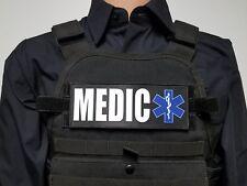 """3x8"""" MEDIC Black EMT EMS Morale Patch for Plate Carrier or Chest Rig Ambulance"""
