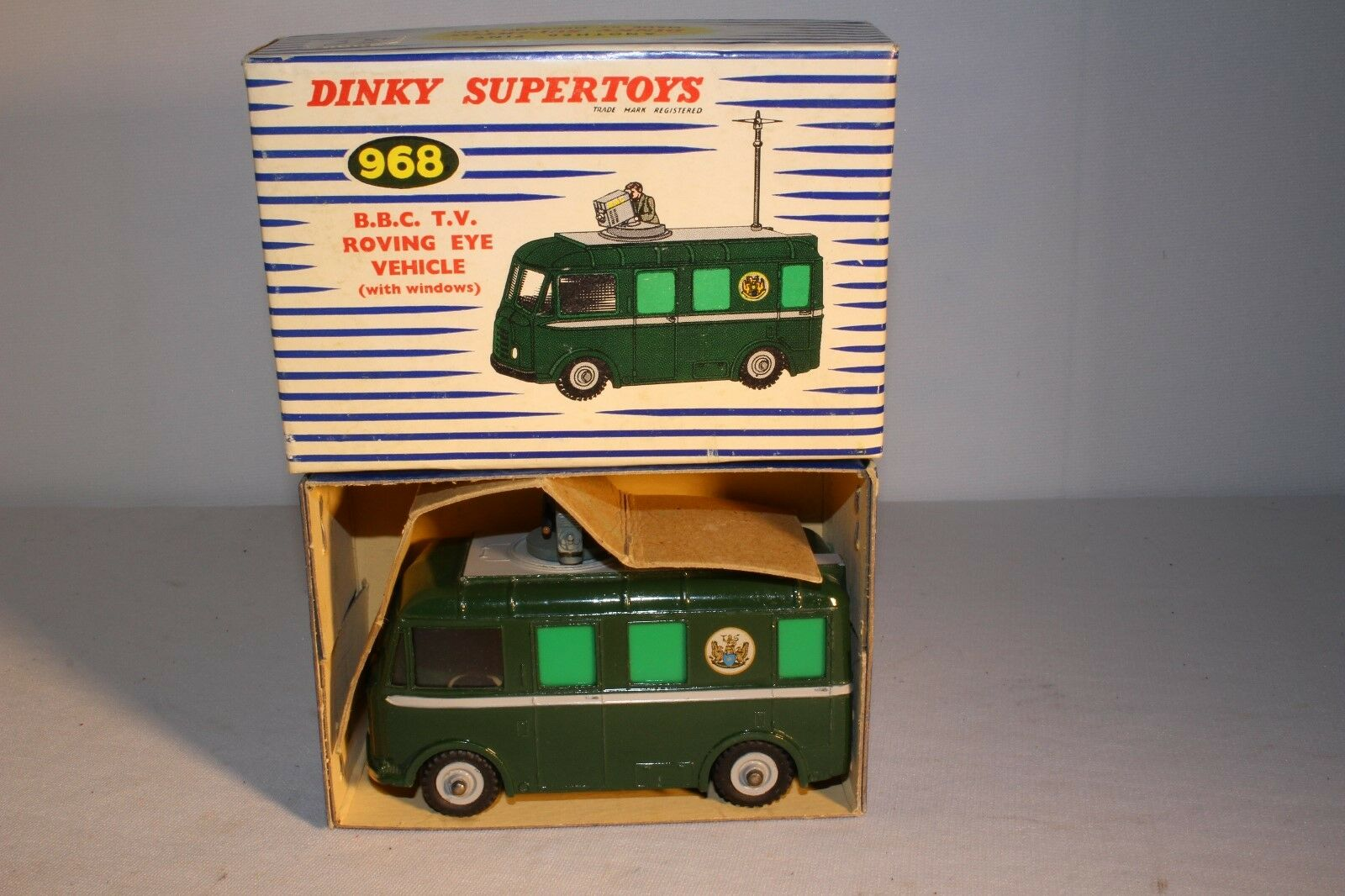 1950 s Dinky Superleks No. 968, B.B.C. TV Roving Eye Fordon, Nice Boxed