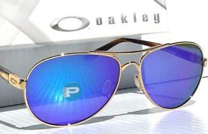 734b3e28f9 Image is loading NEW-Oakley-TIE-BREAKER-GOLD-Aviator-POLARIZED-Violet-