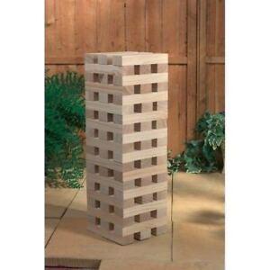 1.2m Larg Géant Jenga Tower Blocs En Bois En Plein Air Famille Jardin Jeu Famiy Fun
