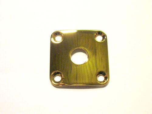 göldo 4-Loch Buchsenblech Jack-Plate gebogen gold