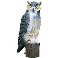 Owl Decoy Bird Scarer Cat Deterrent Pest Control Garden