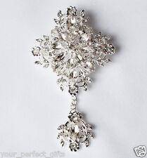 Rhinestone Crystal Brooch Jewelry Pin Wedding Invitation Cake Decoration BR087