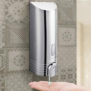 Dispenser Erogatore Sapone Liquido Parete Muro Bagno in Abs Bottiglia 380 ml