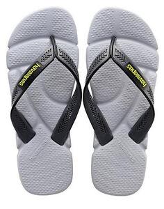 b12eae47061 Details about Havaianas Men`s Brazilian Flip Flops Power Sandal Steel Grey    Grey Any Size NWT