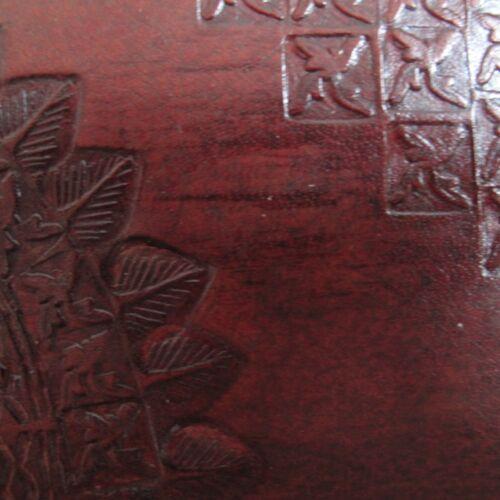 Indra Commerce Équitable Med En Relief COUSU En Cuir Album Photo Scrapbook 2nd Qualité