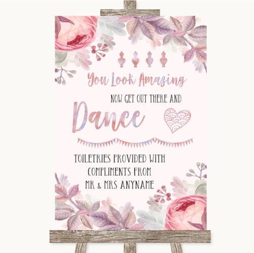 Blush Rose Gold /& Lilac Toiletries Comfort Basket Personalised Wedding Sign