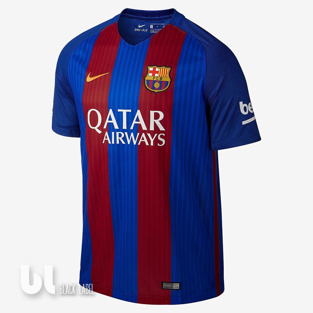 Nike FC Barcelona Stadium Home 2016 17 Trikot Herren Fussballtrikot Barca Shirt