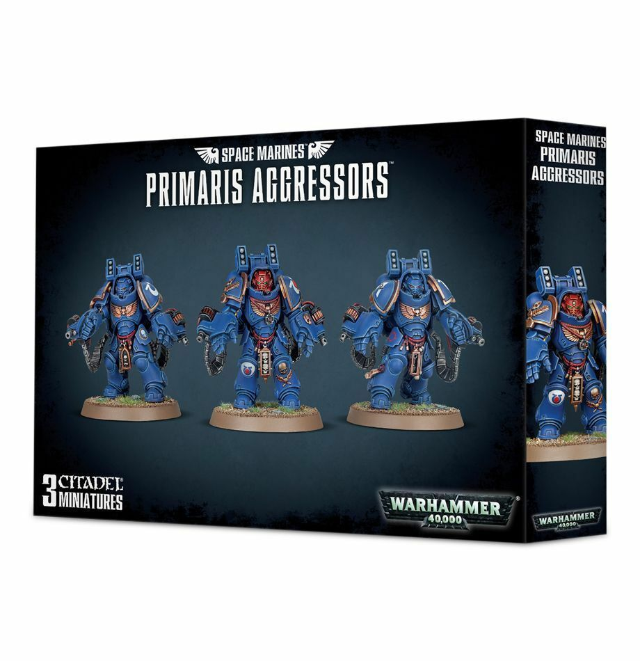 Warhammer 40K - Space Marine Primaris Aggressors - Brand New in Box  - 48-69