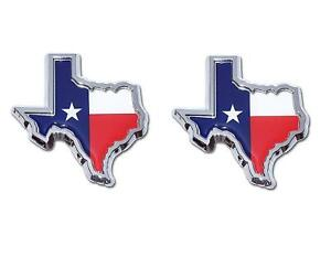 """3/"""" TEXAS FLAG IN SHAPE OF TEXAS EMBLEM State Edition Decal Truck Universal METAL"""