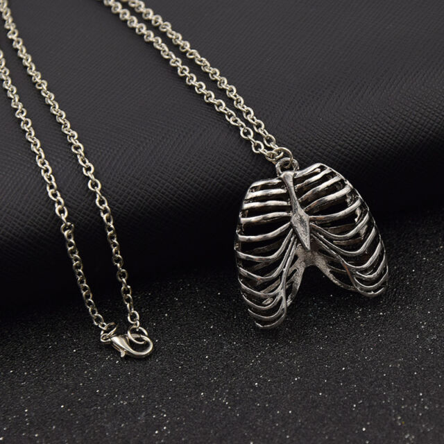 Unisex chain necklace ribcage chest bone skeleton pendant jewelry unisex chain necklace ribcage chest bone skeleton pendant jewelry retro silver aloadofball Gallery