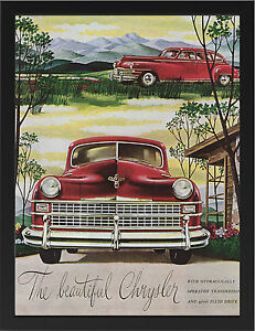CHRYSLER-1946-No2-VINTAGE-AD-REPRO-NEW-A3-FRAMED-PHOTOGRAPHIC-PRINT-POSTER