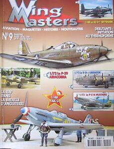 Modellino-Aviazione-Militare-WW2-Rivista-Wing-Masters-N-9-di-1999-Aerei-Guerre