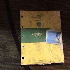 John Deere Operators Manual 6600 Amp 7700 Combines Omh100537
