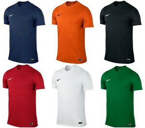 Nike-Park-VI-a-manches-courtes-pour-homme-Football-T-Shirt-Maillot-Top-Sports-T-SHIRTS-GYM