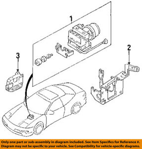 1994 ford probe engine diagram ford oem 94 97 probe abs pump   motor assy f42z2c257a ebay  ford oem 94 97 probe abs pump   motor