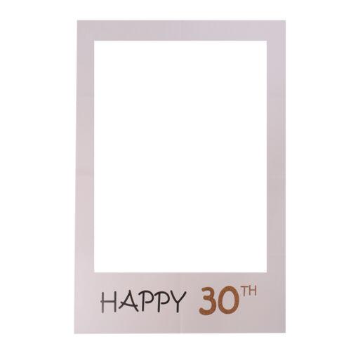 Joyeux 30e Anniversaire Photo Booth Prop papier cadre