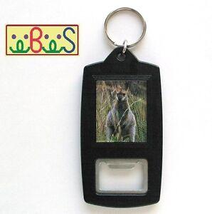 keychain 8x Black Plastic Bottle Opener Keyrings 34x28mm Photo Size H1618B