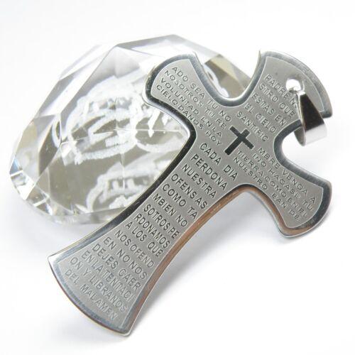 Wholesale 12pcs Mens Solid Stainless Steel Big Cross Bible Pendants 38x56mm