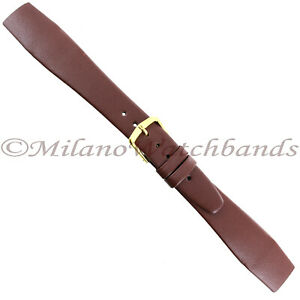 20mm-Hirsch-Brown-Genuine-Quality-Calf-Leather-Unstitched-Open-Ended-Band-Reg