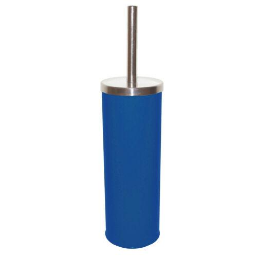 Blaue Toilettenbürste WC-Bürste WC-Garnitur Bürstengarnitur aus Edelstahl