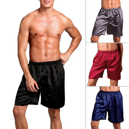 Stylish Men/'s Silk Satin Pajamas Shorts Sleepwear Loungewear Plus Size Pants
