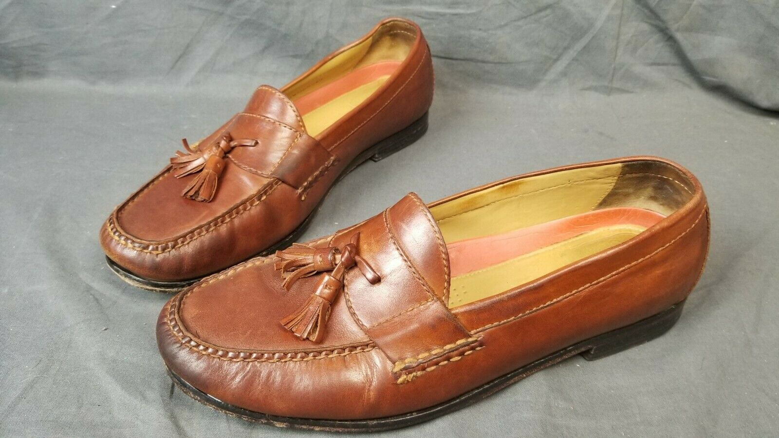Cole Haan Pinch Grand.OS Brown leather Tassel Loafers US 12M EU 45
