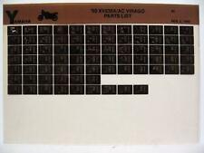 Yamaha XV535 1990 XV535A XV535AC Parts List Manual Microfiche o39