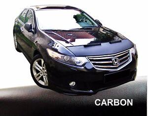Haubenbra-fuer-Honda-Accord-8-Typ-CU-amp-CW-Car-Bra-Steinschlagschutz-CARBON