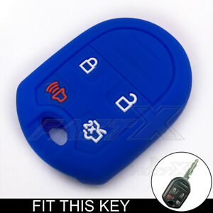 Purple 4 Buttons Silicone Remote Key Case Cover Chain Bag fit for Dodge Chrysler