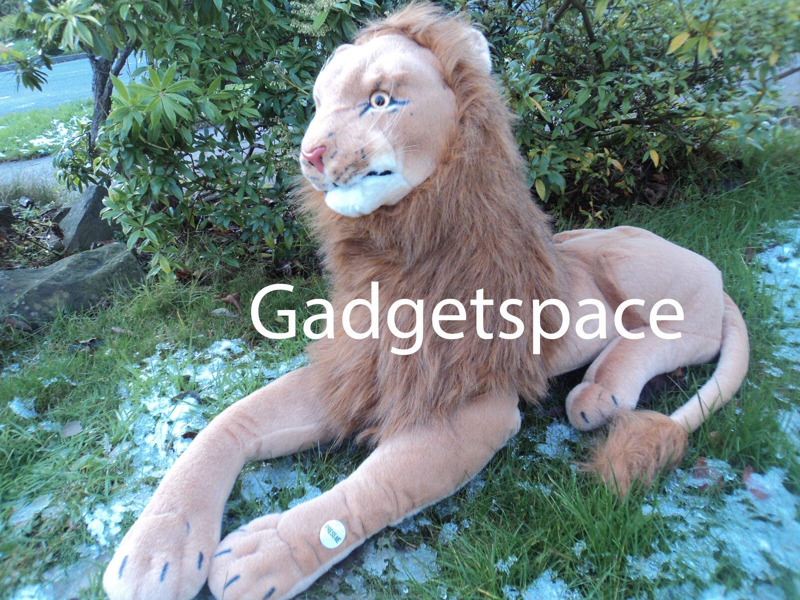 EXTRA Large Gigante Leone 100cm giocattolo morbido peluche peluche Rel dall'aspetto della vita-NUOVO