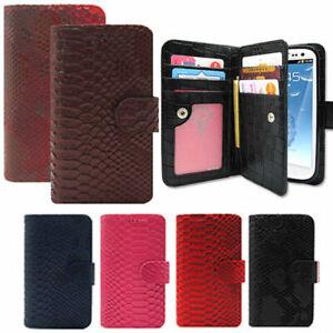 Lumiel Anaconda Wallet Case for Samsung Galaxy Note10 Note9 Note 8 5 7 FE 4 3