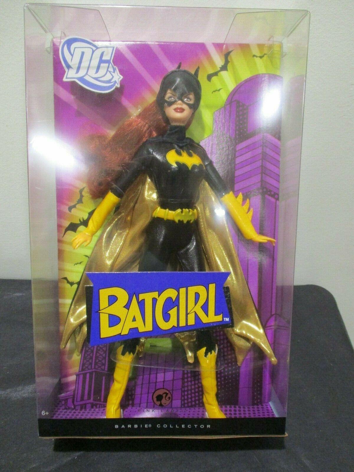 NEW  Batgirl  Barbie Doll DC Comics 2008 Silber Label Mattel NIB Collectible