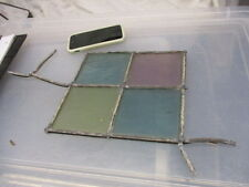 Antique Stained Glass Panel Section offcut Architectural Salvage Window Hanger