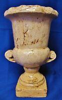 Distressed Style Terra Cotta Pottery Vase Heavy Planter Urn Decor Garden Porch