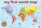 My First World Map Wall Chart by Autumn Publishing Ltd (Sheet map, rolled, 1998)