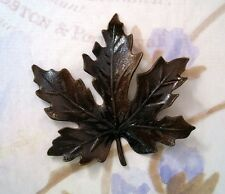 Extra-Large Antiqued Brass Maple Leaf Stamping (1) - ANTS3088
