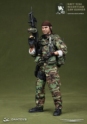 """DAM Toys 1/6 Scale 12"""" Navy Seal Recon Team Saw Gunner Action Figure 93012"""
